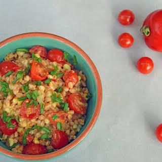 """Tomato and Corn Summer """"Farrotto""""."""