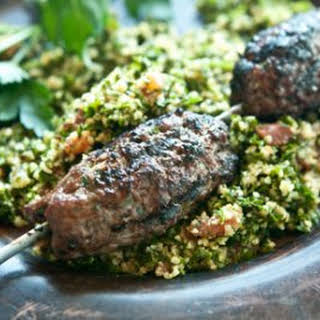 Lebanese-Style Grass-Fed Ground Beef Kabobs.