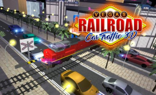 ラスベガスの鉄道車の交通3D