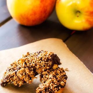 Chocolate Quinoa Apple Wedges.