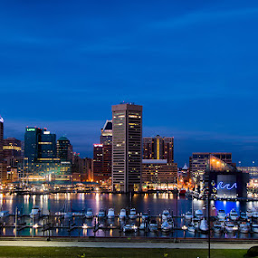 Baltimore Inner Harbor by Stephen Majchrzak - City,  Street & Park  Vistas