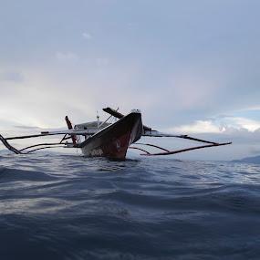 Dive boat by Rouslan Podroutchniak - Landscapes Waterscapes