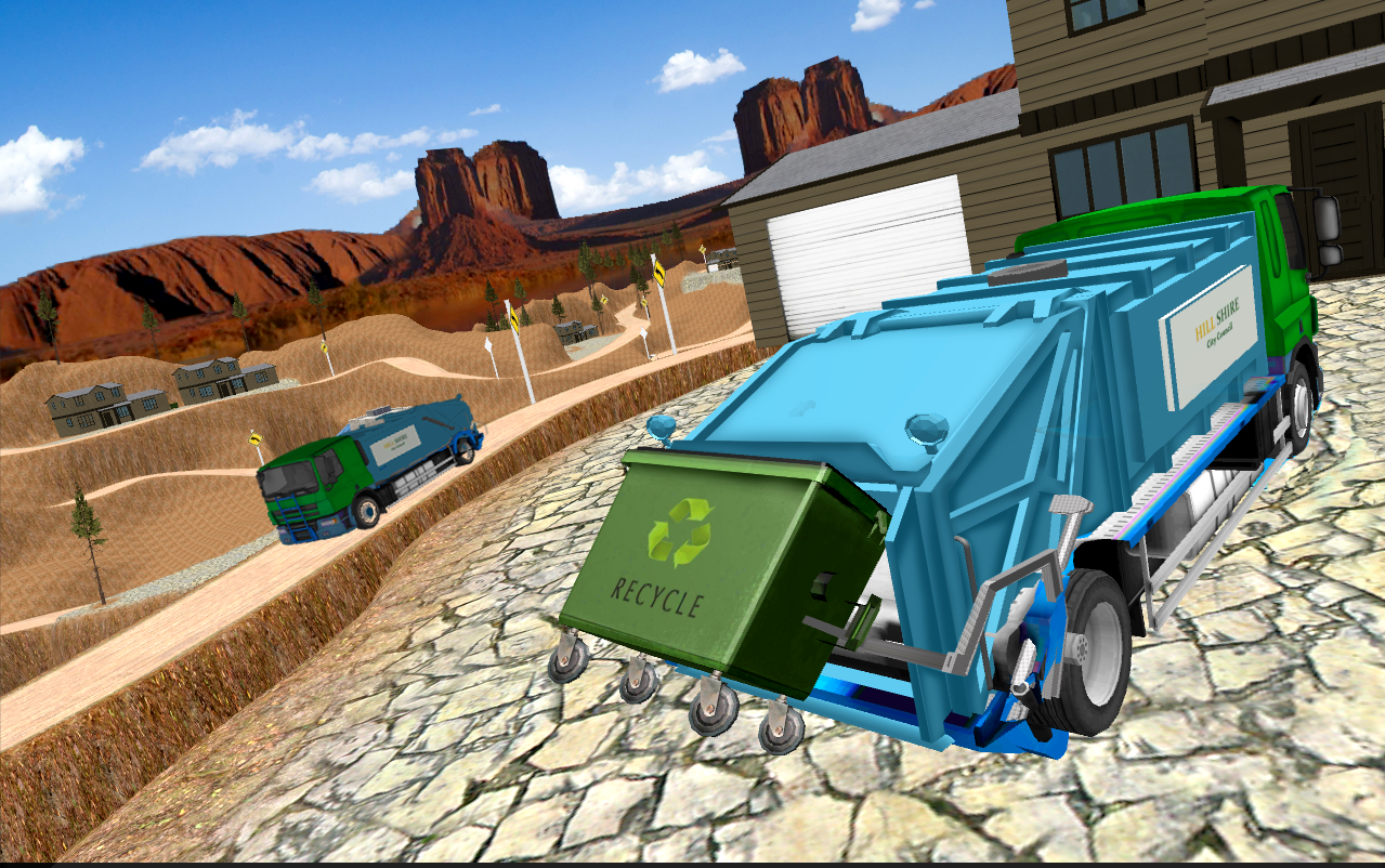 garbage truck simulator 2017 city dump driver 3d android apps