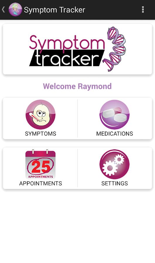 Symptom Tracker- screenshot