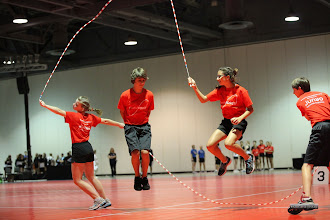 Photo: Charlotte, Dane, Maya, Ethan Double Dutch Pairs Freestyle 6th place 15-17 age division