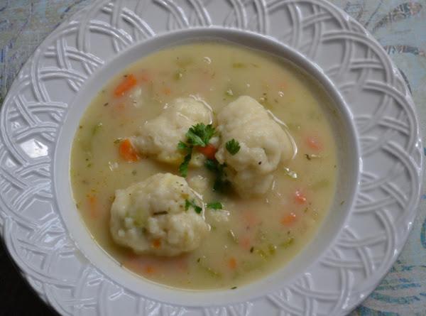Chicken And Herbed Dumpling Soup Recipe