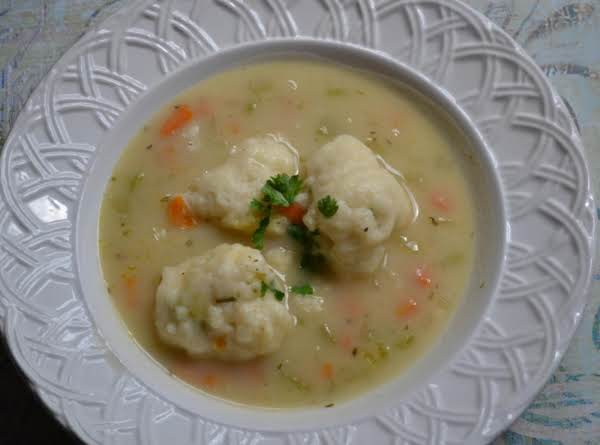 Chicken And Herbed Dumpling Soup Recipe
