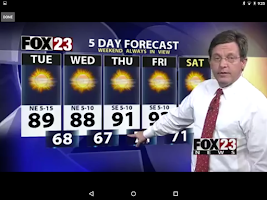 Screenshot of FOX23 News