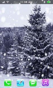 Winter Snowfall Live Wallpaper - náhled