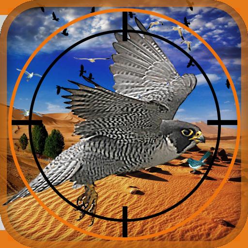 Birds Hunter in Desert