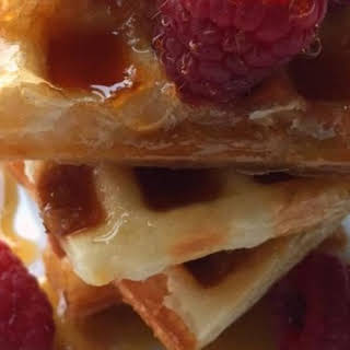 Puff Pastry Waffles.