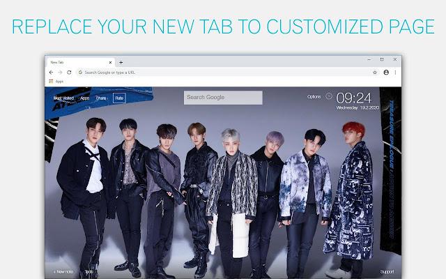 Kpop ATEEZ Wallpapers New Tab - freeaddon.com