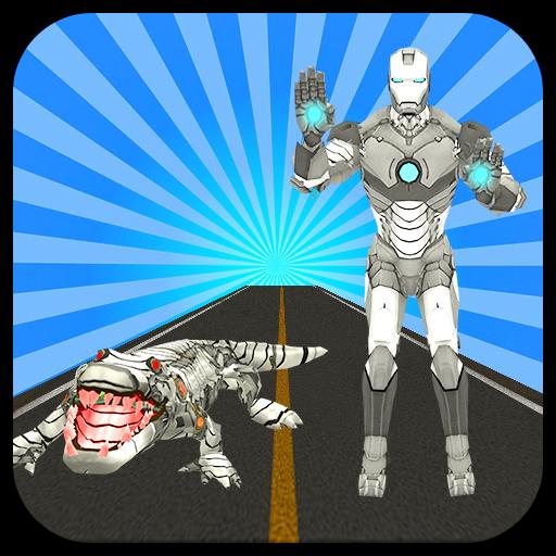 Multi Iron Crocodile Robot VS Futuristic Robots Icon