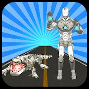 Multi Iron Crocodile Robot VS Futuristic Robots