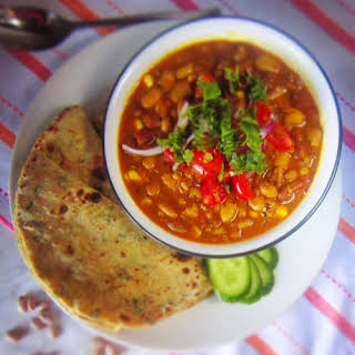 Indian Style Pinto Beans Corns Curry.