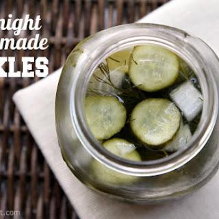 Overnight Homemade Pickles