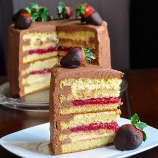 Too Tall Neapolitan Cake