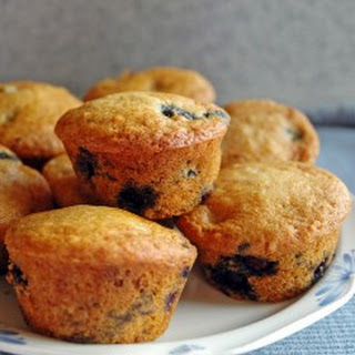 Healthy Whole Wheat Blueberry Muffins.