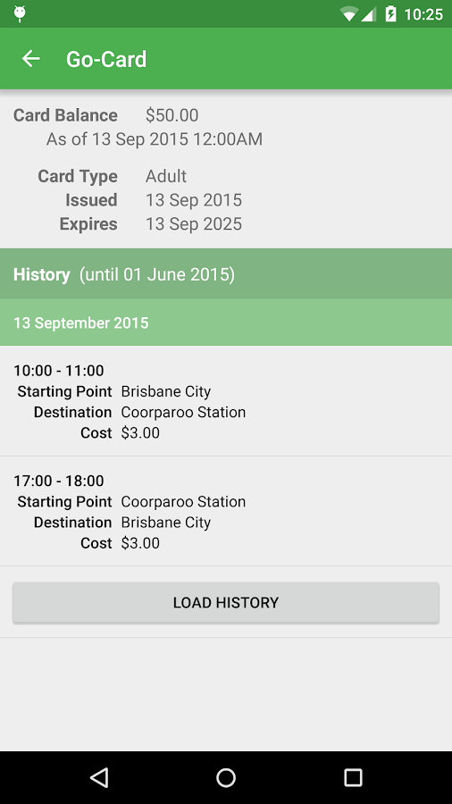 Queensland Transport Planner- screenshot