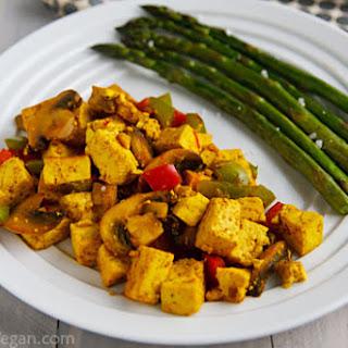 Ridiculously Easy Curry-Scrambled Tofu.