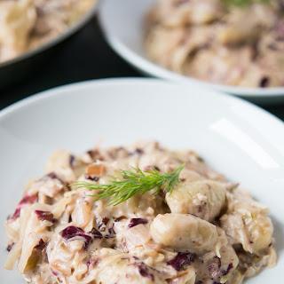 Gnocchi with Creamy Sauerkraut Sauce.