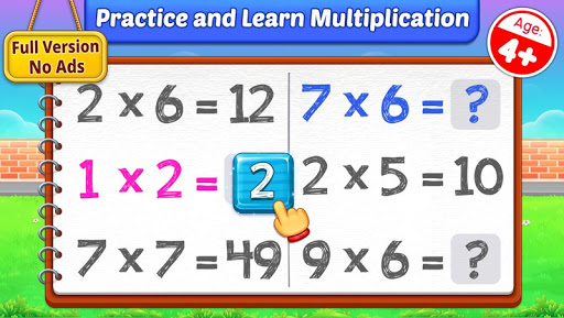 Multiplication Kids - Math Multiplication Tables android2mod screenshots 1