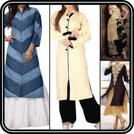 Latest Designer Girls Kurtis Designs Long n Neck