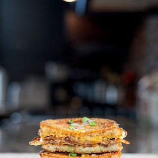 Scalloped Potato Grilled Cheese