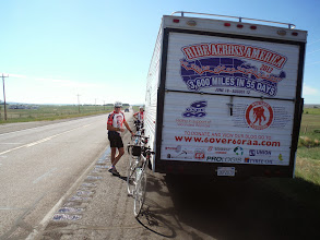 Photo: Day 19 Dubois to Riverton 79 miles 1410' climbing: water break
