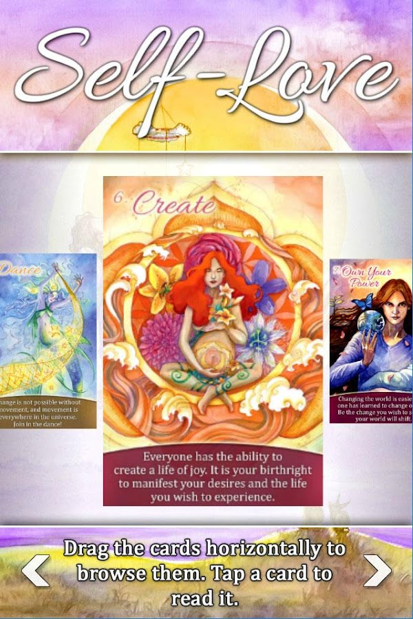 Self-Love Oracle Cards- screenshot