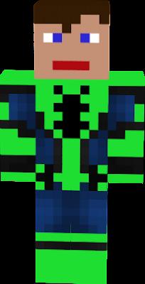 zielony spider man