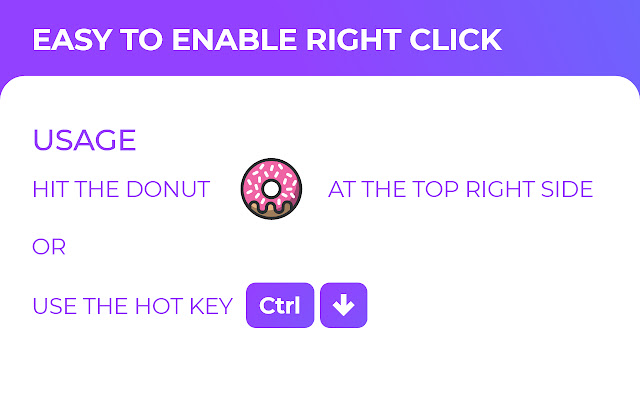 Easy to Enable Right-Click