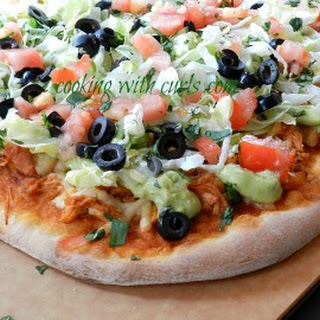 Chicken Enchilada Pizza.