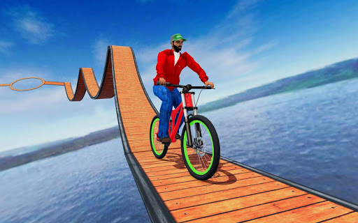 Stunt bike Impossible Tracks 3D: New Bicycle Games 26 screenshots 1