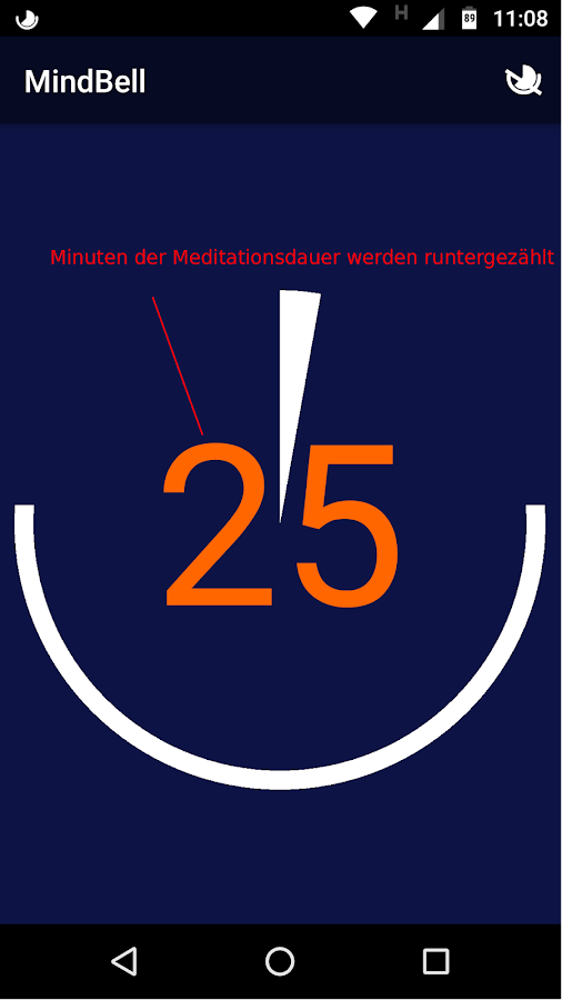 MindBell (Mindfulness Bell & Meditation Timer) – Screenshot