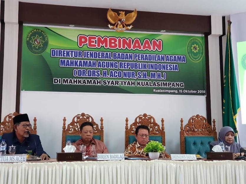 Berasama Bupati Aceh Tamiang Dirjen Badilag Tandatangani Naskah Hibah Tanah