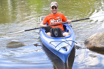 Photo: Owner and pet kayaking at Jamaica State Park by Linda Carlsen-Sperry