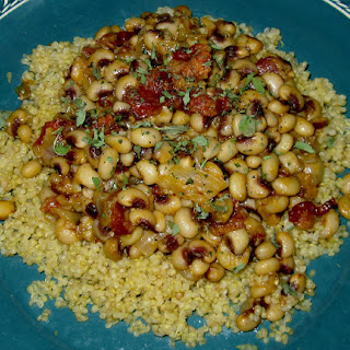 Quinoa with Chipotle-Bacon and Black Peas