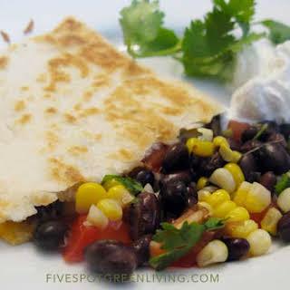 Garden Fresh Black Bean Quesadillas.