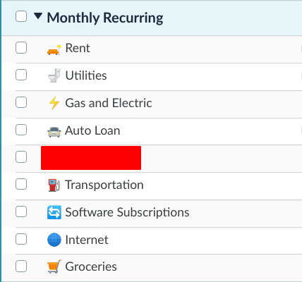 monthly recurring