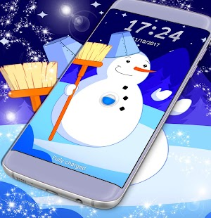 Awesome Snowman Lock Screen - náhled