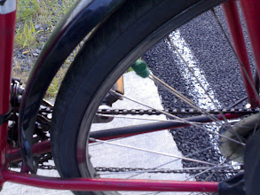 """Photo: Prep: This was part of our """"test run"""" with our bikes fully loaded with gear. Jamey's spoke broke on the trip and was quickly repaired with velcro. Luckily he got the back tire replaced before we left."""