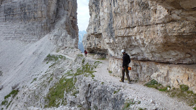 Photo: Dolomites are full of artificial trails made by the army