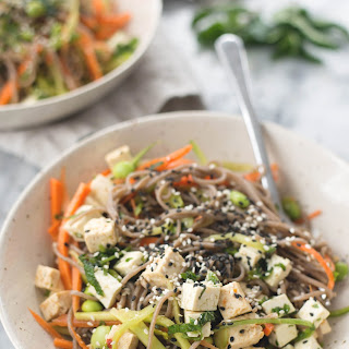 Veggie Soba with Marinated Tofu and Ginger-Soy Sauce Recipe