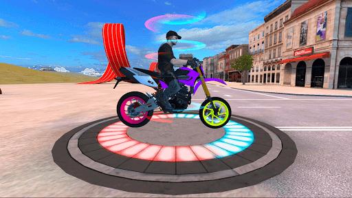tricky bike ramps - futuristic teleport android2mod screenshots 1