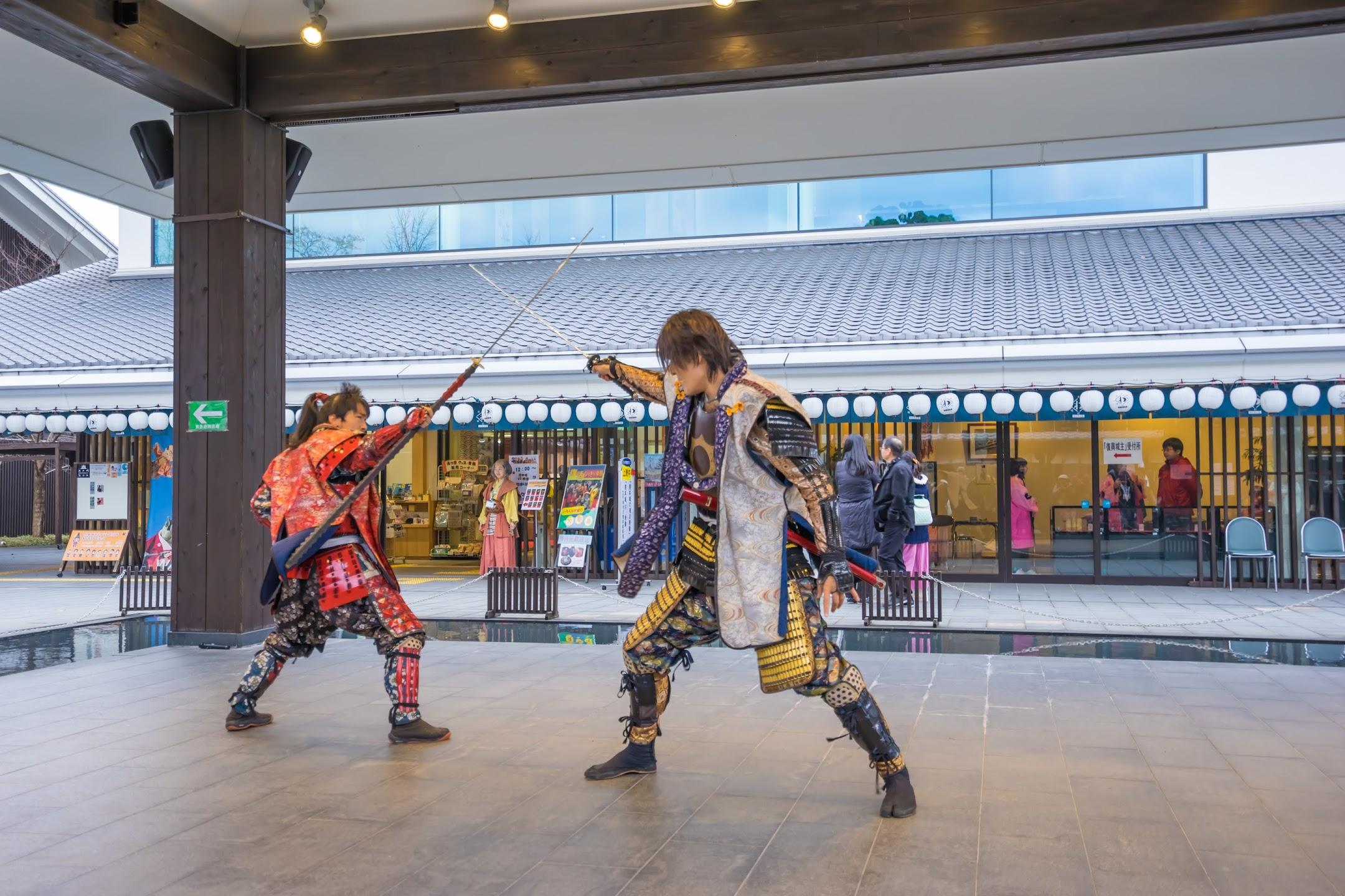 城彩苑 熊本城おもてなし武将隊の演舞2
