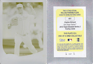 Photo: Clayton Richard 2013 Topps Printing Plates Yellow (1/1)