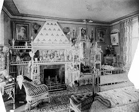 Photo: 1884, an example of a VERY decorated bedroom.