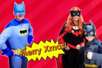 Photo: This year, we were the old-style Batman, Batwoman (NOT Batgirl!) & the new-style Batman (A.K.A. The Dark Knight).