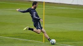 Ivan Kecojevic en el entrenamiento del Albacete Balompié.